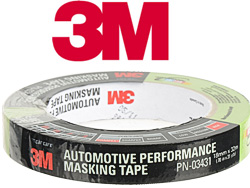 3/4 inch 3m green auto grade masking tape