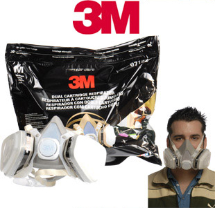 Organic Vapor Respirator, for use against paint fumes.