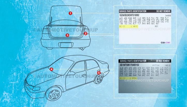 2005 escalade paint code location autos post
