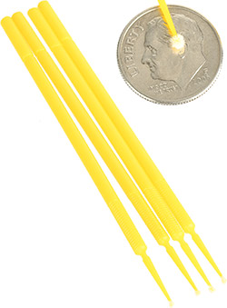 A 4-pack of non-absorbant microdabbers for touch up application of small chips and scratches.