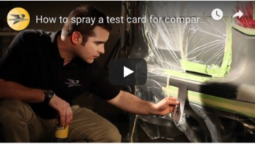 How to Spray a Test Card for Comparing Automotive Paint Color