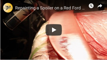 Repainting a Spoiler on a Red Ford ZX2
