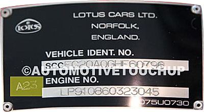 Lotus Paint Code Label