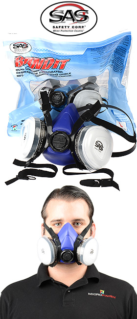 Bandit N95 Disposable Dual Cartridge Respirator for use against paint fumes